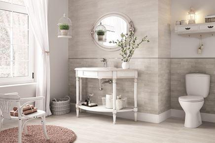 Szarość i biel w łazience - Cersanit Desa