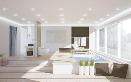 Aranżacja salonu kąpielowego w stylu skandynawskim