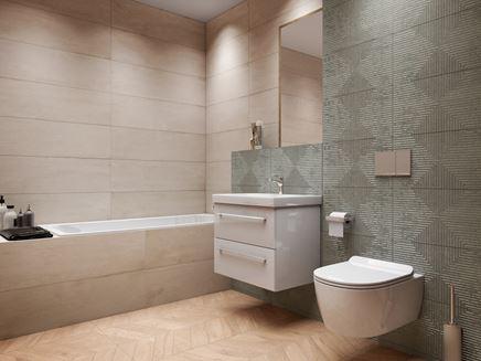 Nowoczesna łazienka z płytami Azario Aspiro