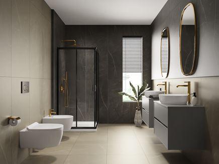 Aranżacja łazienki z kolekcją Paradyż Linearstone