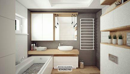Skandynawska łazienka z wanną