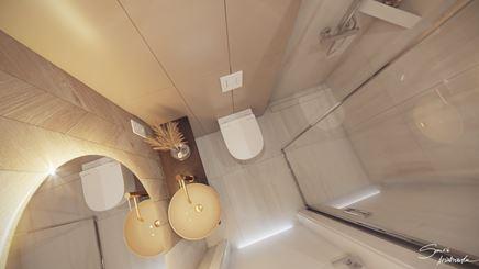Mała łazienka - układ funkcjonalny
