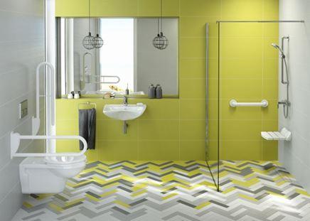 Aranżacja łazienki przystosowanej dla osób z dysfunkcjami ruchowymi