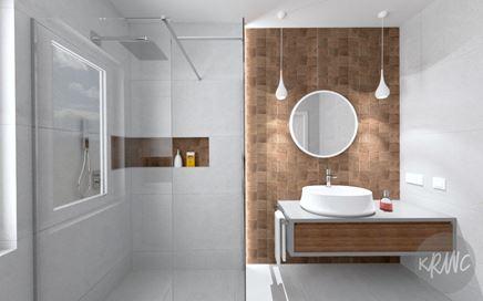 Łazienka i WC w stylu nowoczesnym