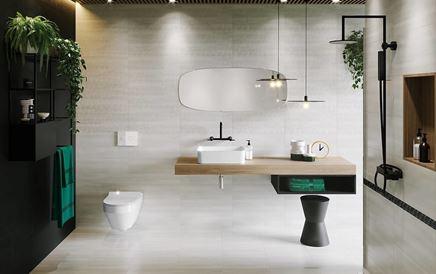 Łazienka w szarościach w nowoczesnej aranżacji