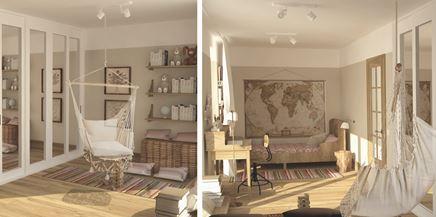 Sypialnia z hamakiem