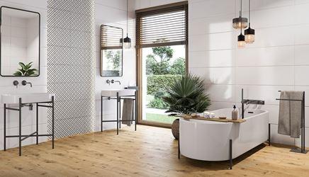Przestronna łazienka w stylu skandynawskim