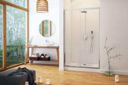 Aranżacja łazienki z prostokątnym brodzikiem Excellent Forma