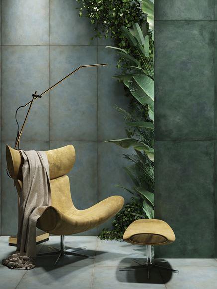 Aranżacja salonu z kolekcją Tubądzin Patina Plate