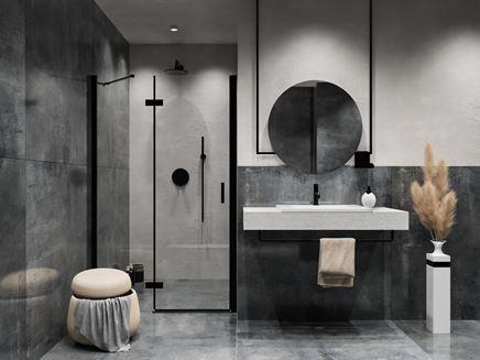 Projekt łazienki z płytką Azario Tribeca