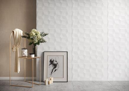 Białe płytki ścienne ze strukturą z kolekcji Cersanit Una Super Matt