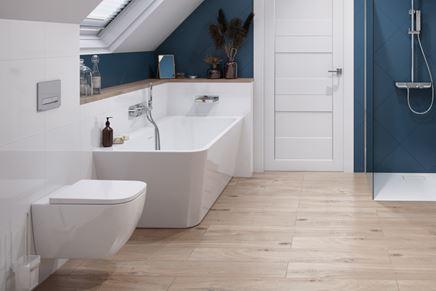 Nowoczesna łazienka z wanną przyścienną