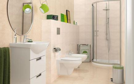 Aranżacja małej łazienki w jasnych kolorach