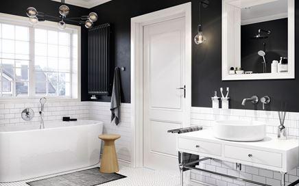 Czarno-biała łazienka Kludi Bozz