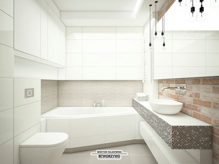 Nowoczesna łazienka z asymetryczną wanną
