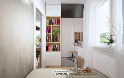 Biurko do pracy w małej sypialni