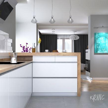 Pokój dzienny z otwartą kuchnią