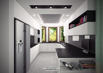 007. Gąsówka-Skwarki | Kuchnia otwarta w stylu nowoczesnym