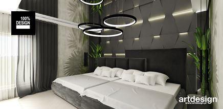 Oryginalna aranżacja sypialni z roślinnymi motywami