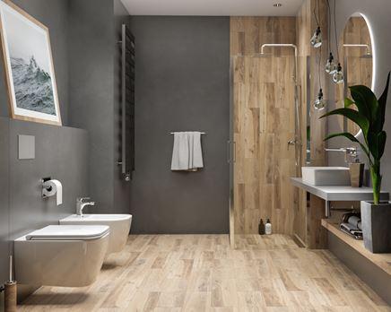 Cerrad Sunset Wood - aranżacja łazienki
