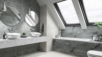 Kamienna łazienka na poddaszu
