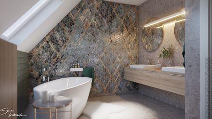 Heksagonalna mozaika o luksusowym charakterze