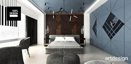 Sypialna z błękitnym akcentem