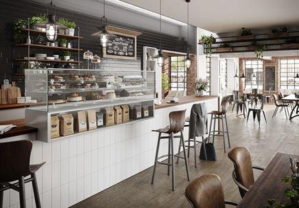Aranżacja kawiarni w stylu retro