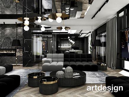 Salon z modułową kanapą