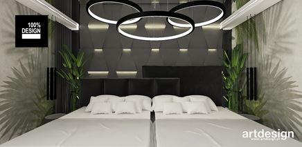 Tapeta w egzotyczny wzór w nowoczesnej sypialni