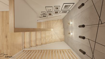 Klatka schodowa - pomysł na aranżacje z betonowymi płytami