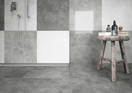 Połączenie biel i szarości w łazience