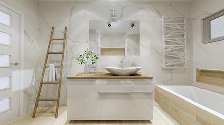Tubądzin Pietrasanta - jasna łazienka