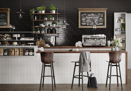 Kawiarnia w stylu retro