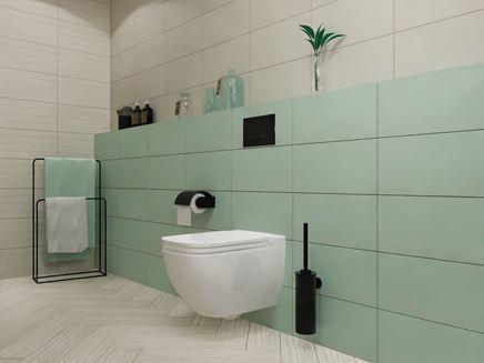 Aranżacja łazienki z wykorzystaniem bieli i mięty