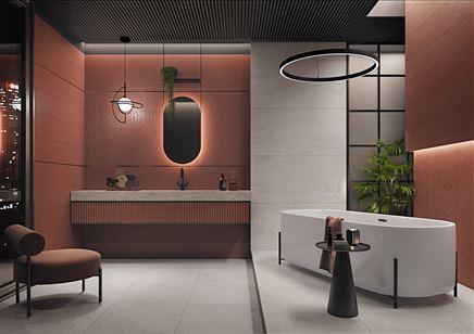 Czerwona łazienka w stylu glamour