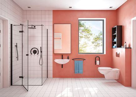 Nowoczesna łazienka z udogodnieniami dla osób starszych lub niepełnosprawnych