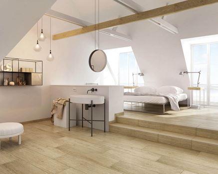 Sypialnia z łazienką w stylu skandynawskim Paradyż Almonte