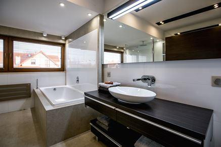 Nowoczesna łazienka - strefa kąpielowa