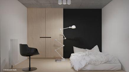 Sypialnia na antresoli w kawalerce