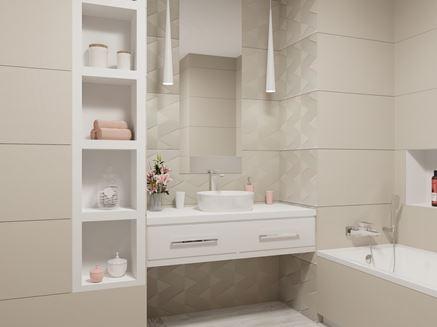 Elegancka łazienka w jasnych barwach