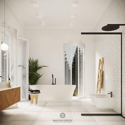 Prysznic typu walk-in w małej łazience
