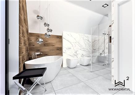 Projekt łazienki - Pracownia WKwadrat