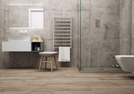 Betonowy minimalizm w łazience