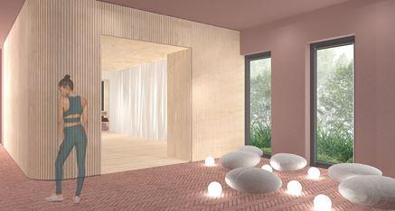 Aranżacja wnętrza - Studio Jogi