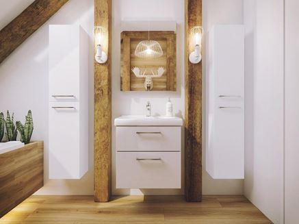 Drewno z bielą Defra Latte- lakier biały połysk