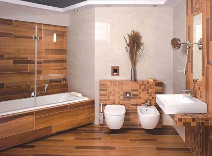 Klasyczna łazienka w brązach Omnires QP