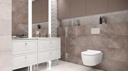 Aranżacja stylowej łazienki z mozaiką i kamieniem