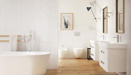 Łazienka w stylu skandynawskim Opoczno Winter Vine