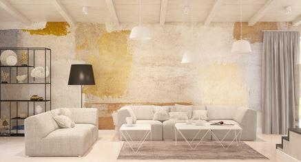 Oryginalna ściana w salonie